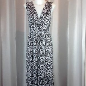 Cable & Gauge black and white maxi dress